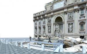 Parte domani il cantiere per il restauro di Fontana Trevi