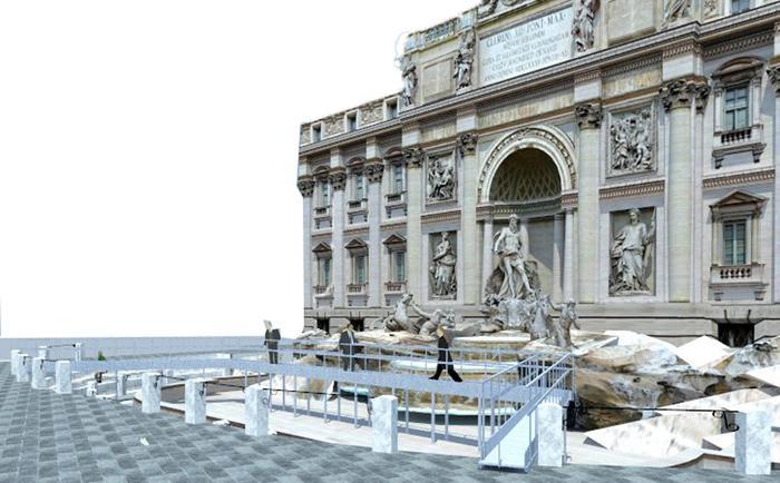 cfafe8c60c6f Parte domani il cantiere per il restauro di Fontana Trevi