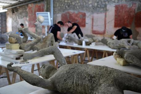 Pompei, restauro calchi vittime eruzione