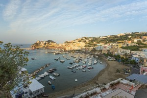 Aerial View of the Main Port of Ponza Italy